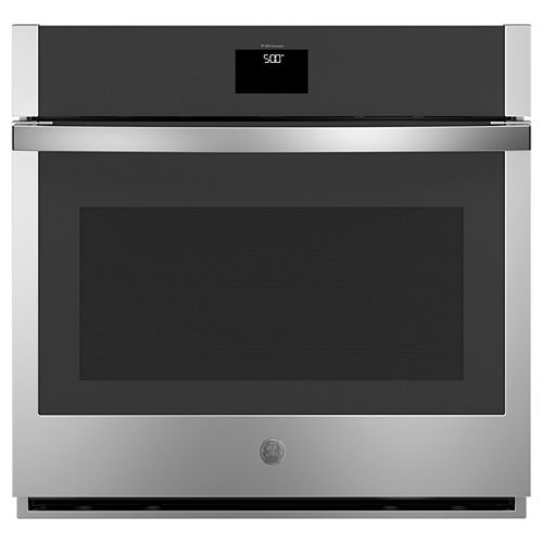 GE 30-inch Single Electric Wall Oven with Self-Cleaning Convection in Stainless Steel