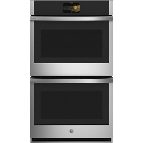 GE Profile 30-inch Smart Double Electric Wall Oven with Convection Self-Cleaning in Stainless Steel