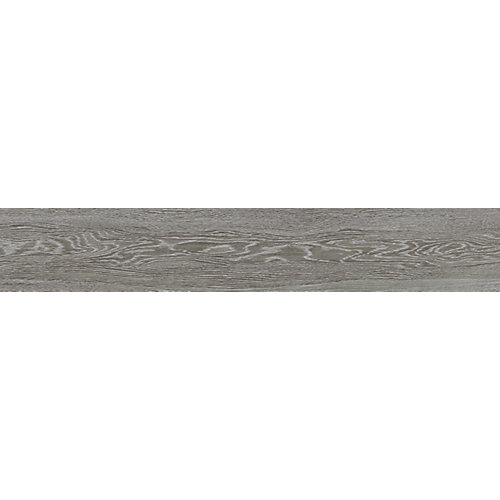 Brushed Oak Carbon 8-inch x 47-inch Rectified Porcelain Tile
