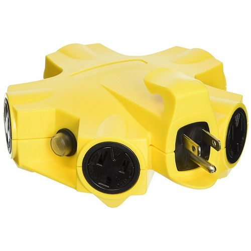 Outdoor 5 Outlet Power Adapter