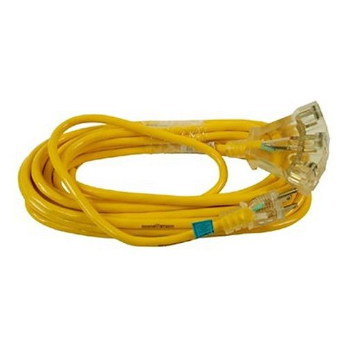 Outdoor Extension Cord 14/3 SJTW 100 ft. (30.4 M) with Lighted Power Block