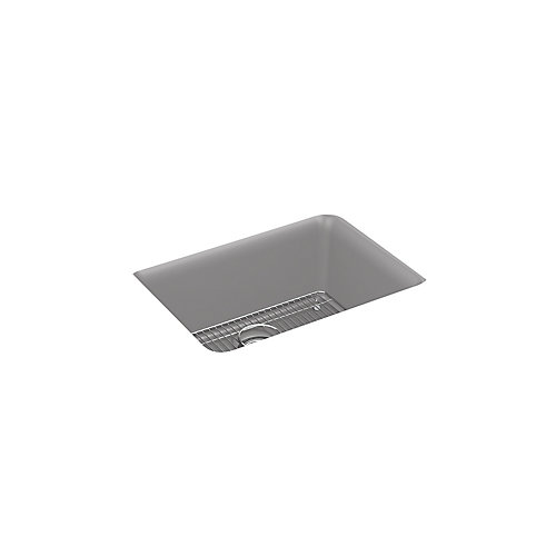 Cairn(R) 24-1/2 inch x 18-5/16 inch x 9-1/2 inch Neoroc(R) under-mount single-bowl kitchen sink in Matte Grey
