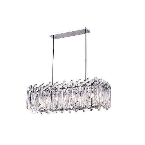 CWI Lighting 33 inch 8 Light Chandelier with Chrome Finish From our Henrietta Collection