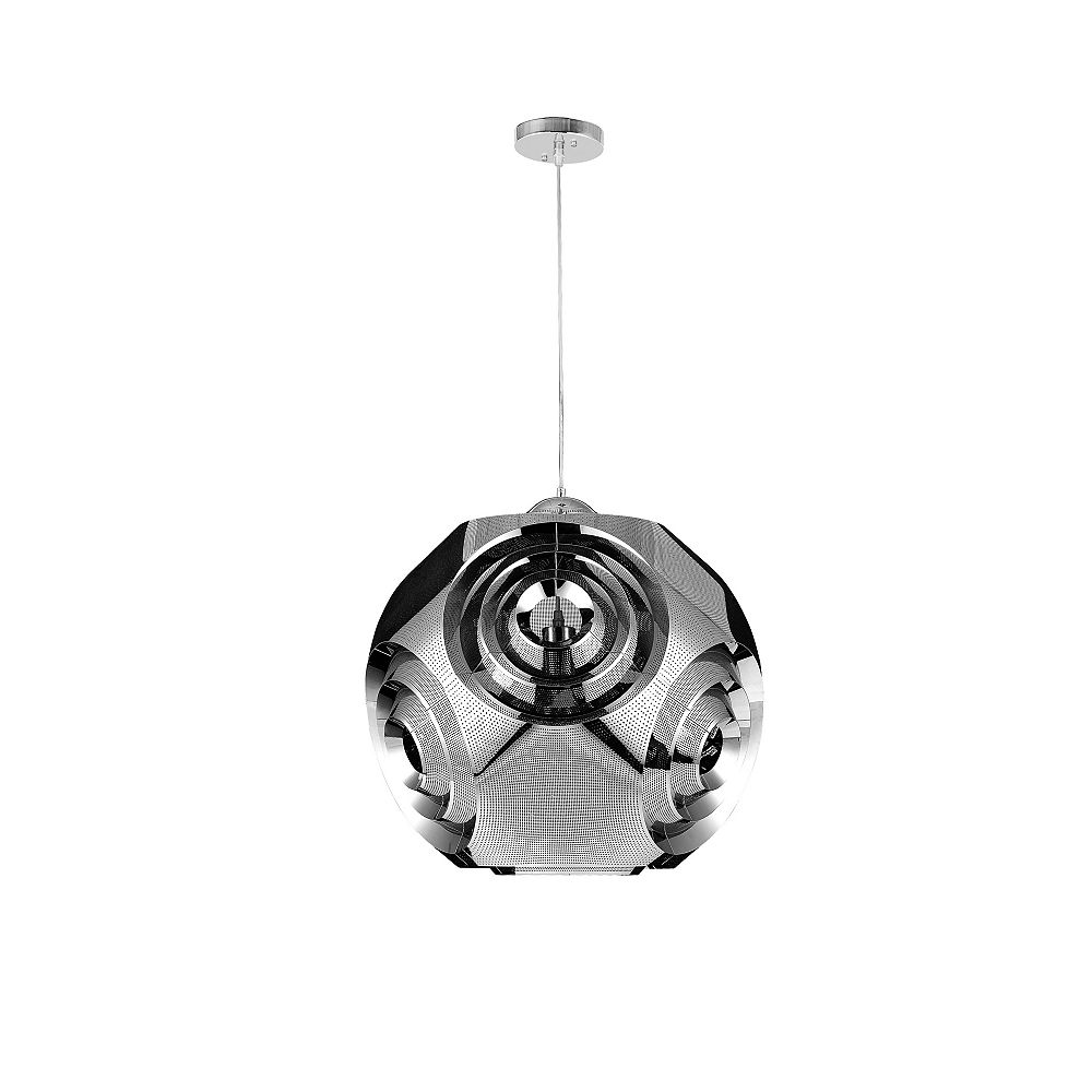 CWI Lighting 10 inch 1 Light Pendant with Chrome Finish From our Kingsley Collection