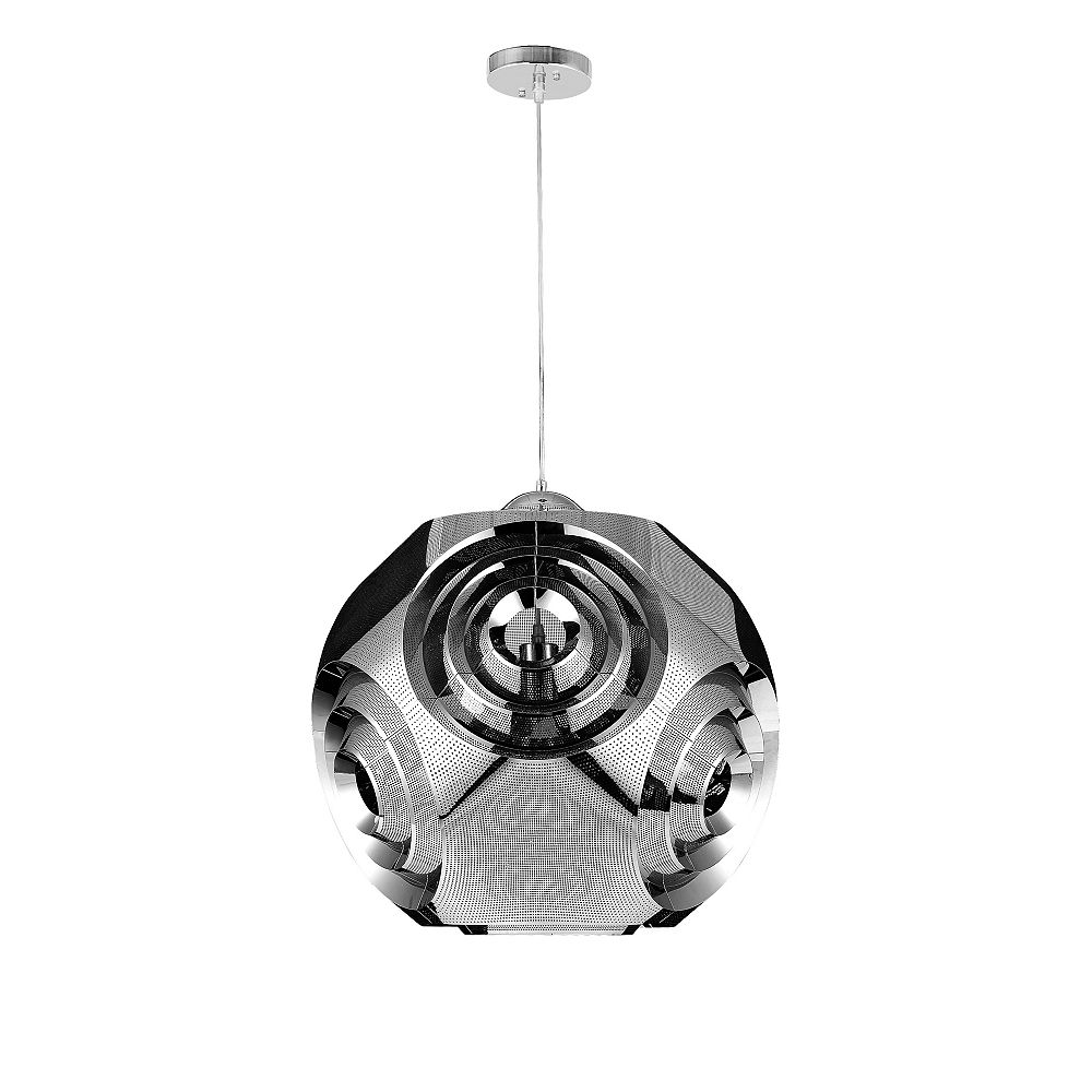 CWI Lighting 19 inch 1 Light Chandelier with Chrome Finish From our Kingsley Collection