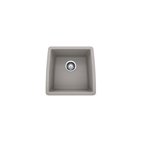 PERFORMA U BAR, Single Bowl Undermount Bar/Preparation Sink, SILGRANIT Concrete Gray