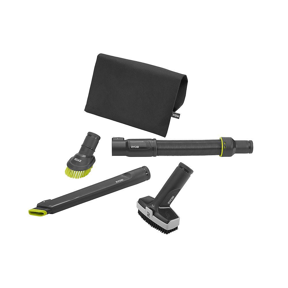 RYOBI Kit d'accessoires pour aspirateur 4 pièces pour aspirateur 18V ONE+ Stick P718