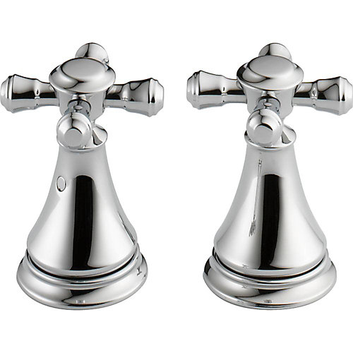 Cassidy Metal Cross Handle Set - Deck Mount Lavatory and Bidet, Chrome