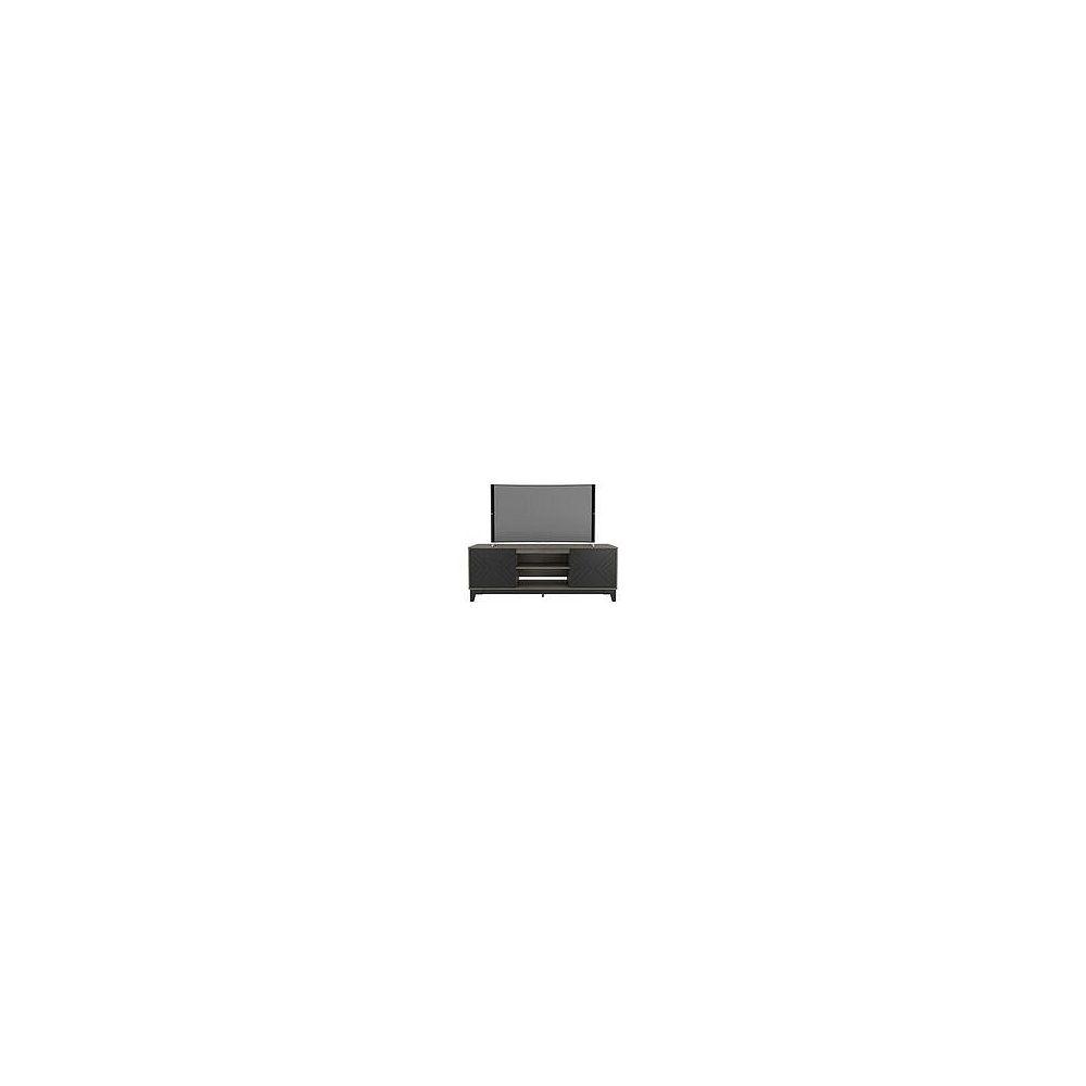 Nexera Meuble téléviseur Arrow, 72 po, gris écorce et noir