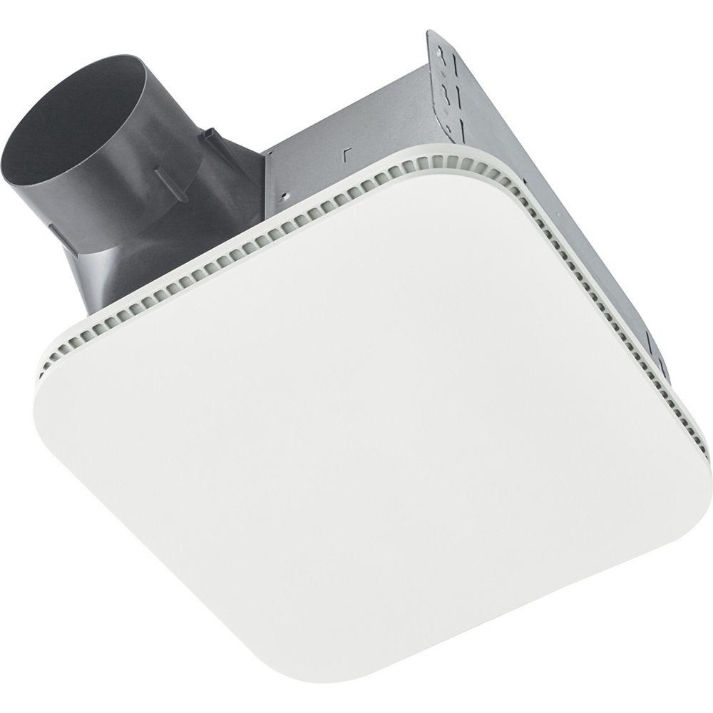 Broan-NuTone Ventilateur de salle de bain avec grille CLEANCOVERMC 80 pi³/min de la série Roomside, ENERGY STAR®