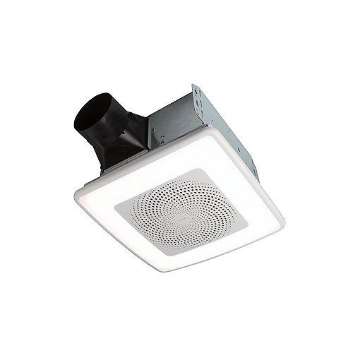 ChromaComfort 110 CFM, 1.5 sone Bathroom Exhaust Fan w/ Customizable Multi-Color LEDs and Smart Phone App