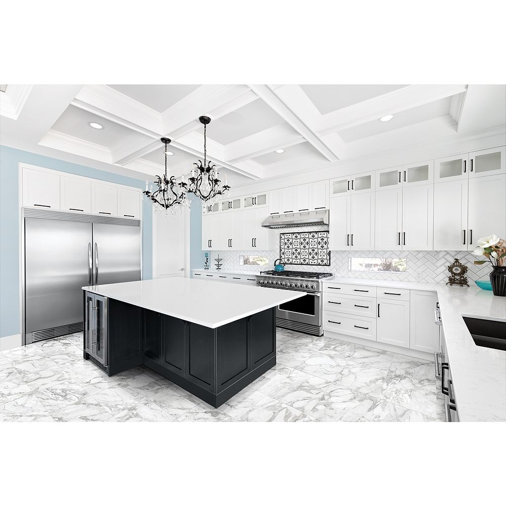 Enigma Domani Bianco 24-inch x 24-inch Polished Rectified Porcelain Tile