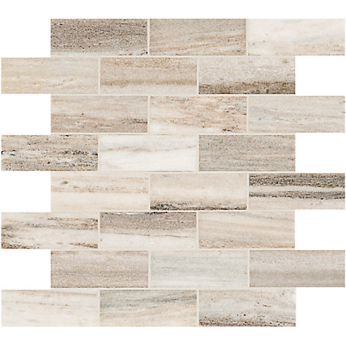 Toscana 1.5-inch x 4-inch Brick Polished Marble Mosaics