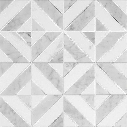 Grigio Parquet Polished Marble Mosaics