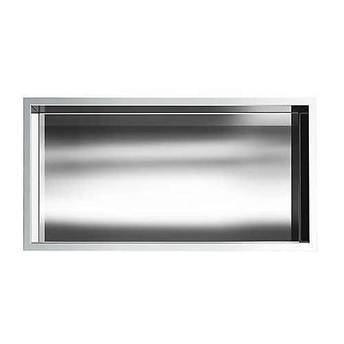 12 in. x 24 in. Stainless Steel Shower Niche in Chrome by JAG