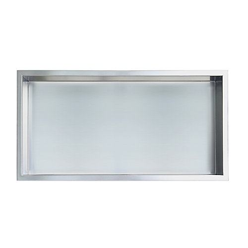 12 in. x 24 in. Stainless Steel Shower Niche in Brushed  by JAG