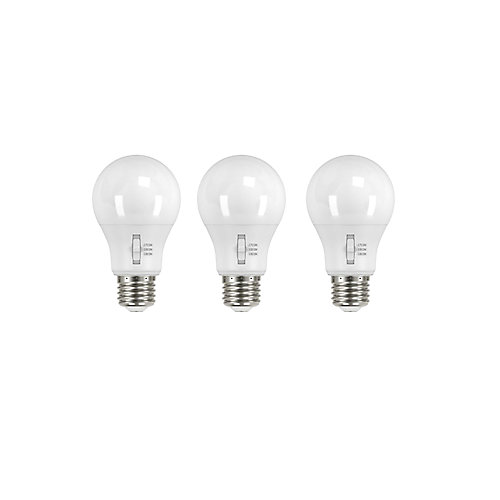 60W Equivalent Tunable White A19 Dimmable LED Light Bulb (3-Pack)
