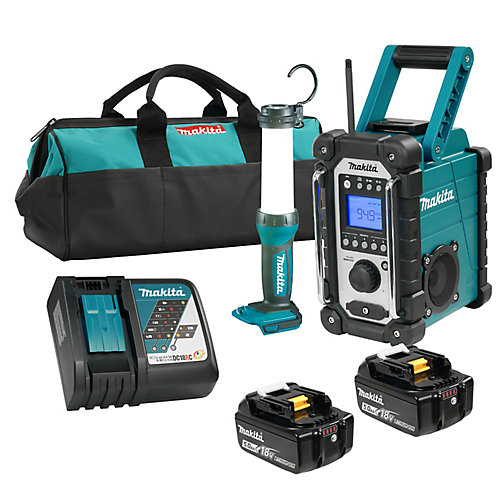 18V LXT 2PC Emergency 5.0Ah Kit (DMR107+DML807)