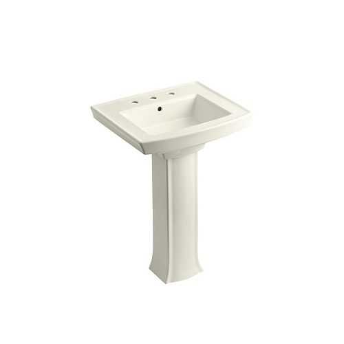 pedestal bathroom sink with 8 inch widespread faucet holes