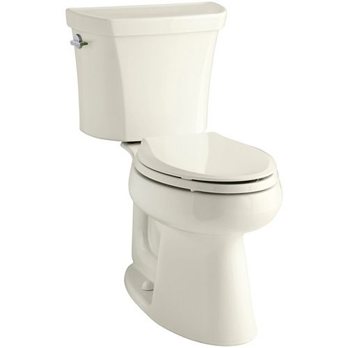 Comfort Height two-piece elongated dual-flush toilet with Class Five flushing technology