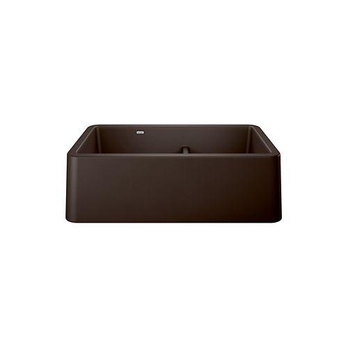 IKON 33 1.75 LOW DIVIDE, Offset Double Bowl Farmhouse Kitchen Sink, SILGRANIT Café