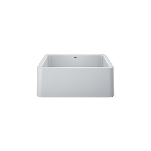 IKON 27 Single Bowl, Farmhouse Kitchen Sink, SILGRANIT, White