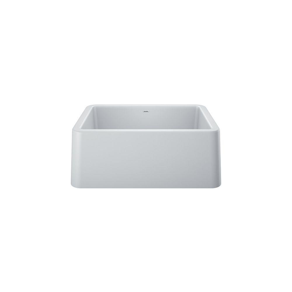 Blanco Ikon 27 Single Bowl Farmhouse Kitchen Sink Silgranit White The Home Depot Canada