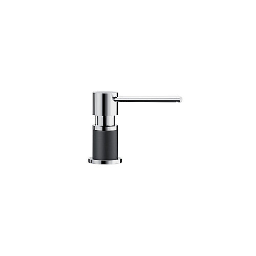 LATO soap dispenser, Chrome/Anthracite