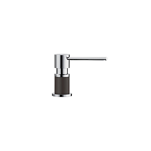 LATO soap dispenser, Chrome/Café