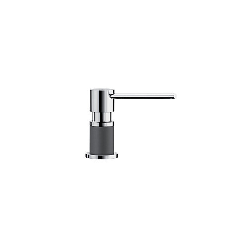 LATO soap dispenser, Chrome/Cinder