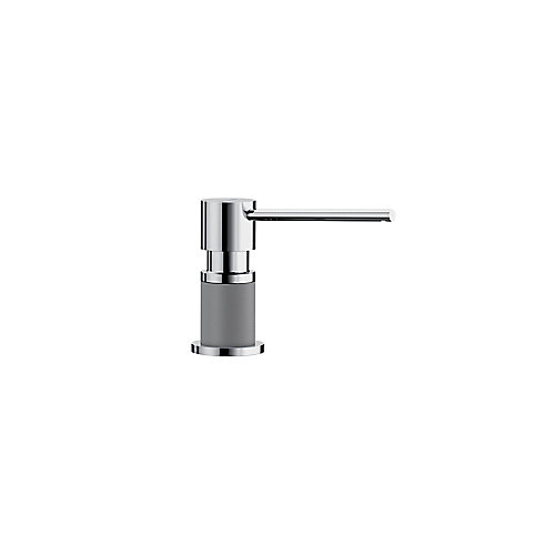 LATO soap dispenser, Chrome/Metallic Gray