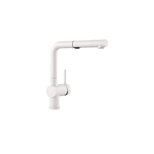 POSH Pull-Out, Dual-spray, Kitchen Faucet, White