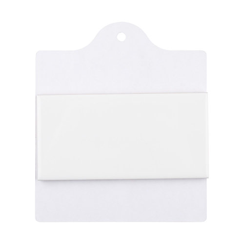 Sample - Park Slope Subway Glossy White 6-inch x 6-inch Ceramic Wall Tile