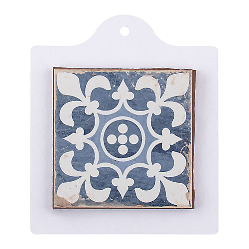 Sample - Faenza Azul 6-inch x 6-inch Ceramic Floor and Wall Tile