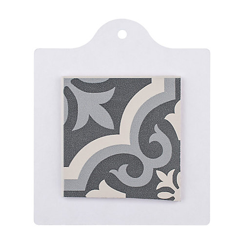 Sample - Braga Black 6-inch x 6-inch Ceramic Floor and Wall Tile