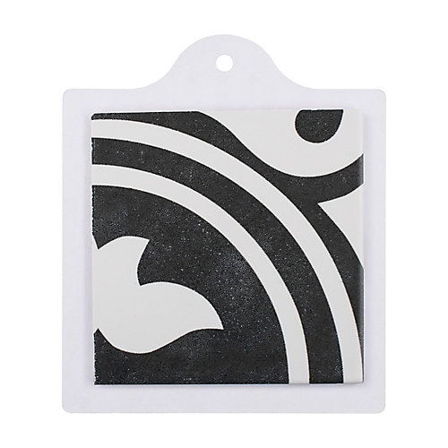 Sample - Arte Black 6-inch x 6-inch Porcelain Floor and Wall Tile