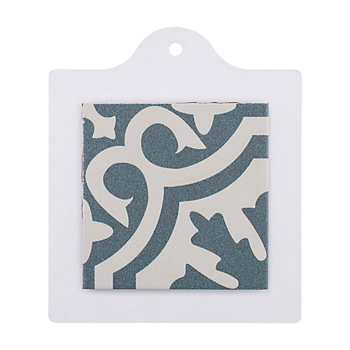 Sample - Berkeley Blue 6-inch x 6-inch Ceramic Floor and Wall Tile
