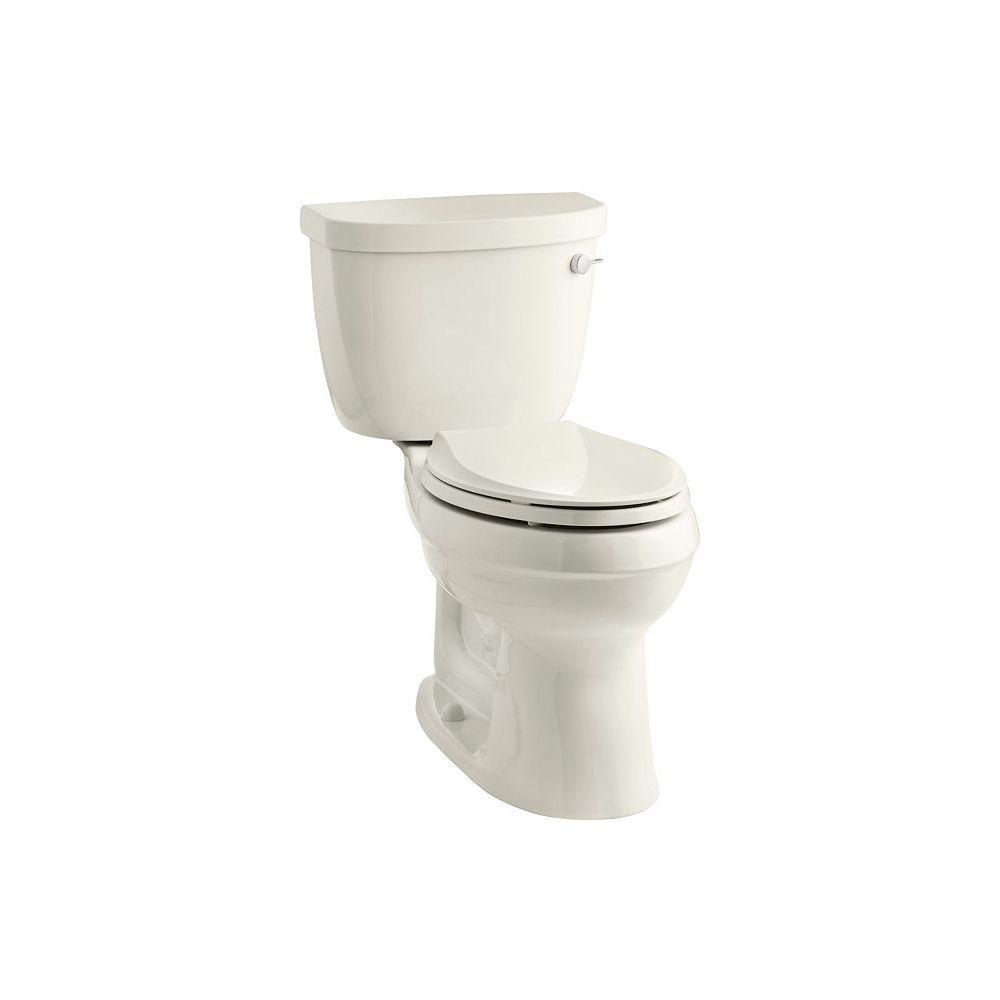 KOHLER Comfort Height two-piece elongated 1.6 gpf toilet with AquaPiston flush technology
