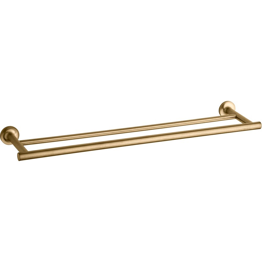 Purist 24 inch double towel bar