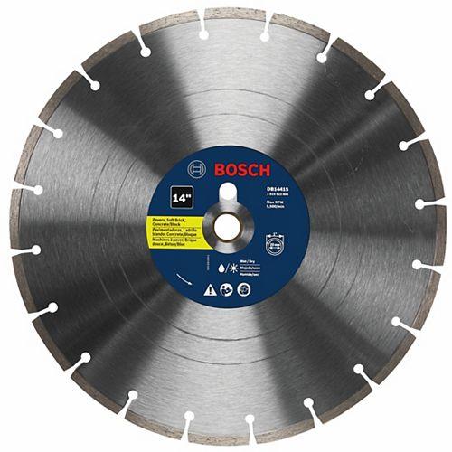 Disque segmenté diamanté standard de 14po pour les coupes grossières universelles