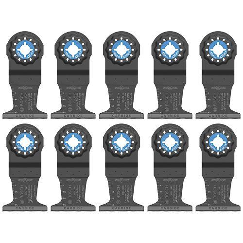 Bosch Lame plongeante au carbure de 1-3/4po pour outils polyvalents oscillants Starlock, paquet de 10