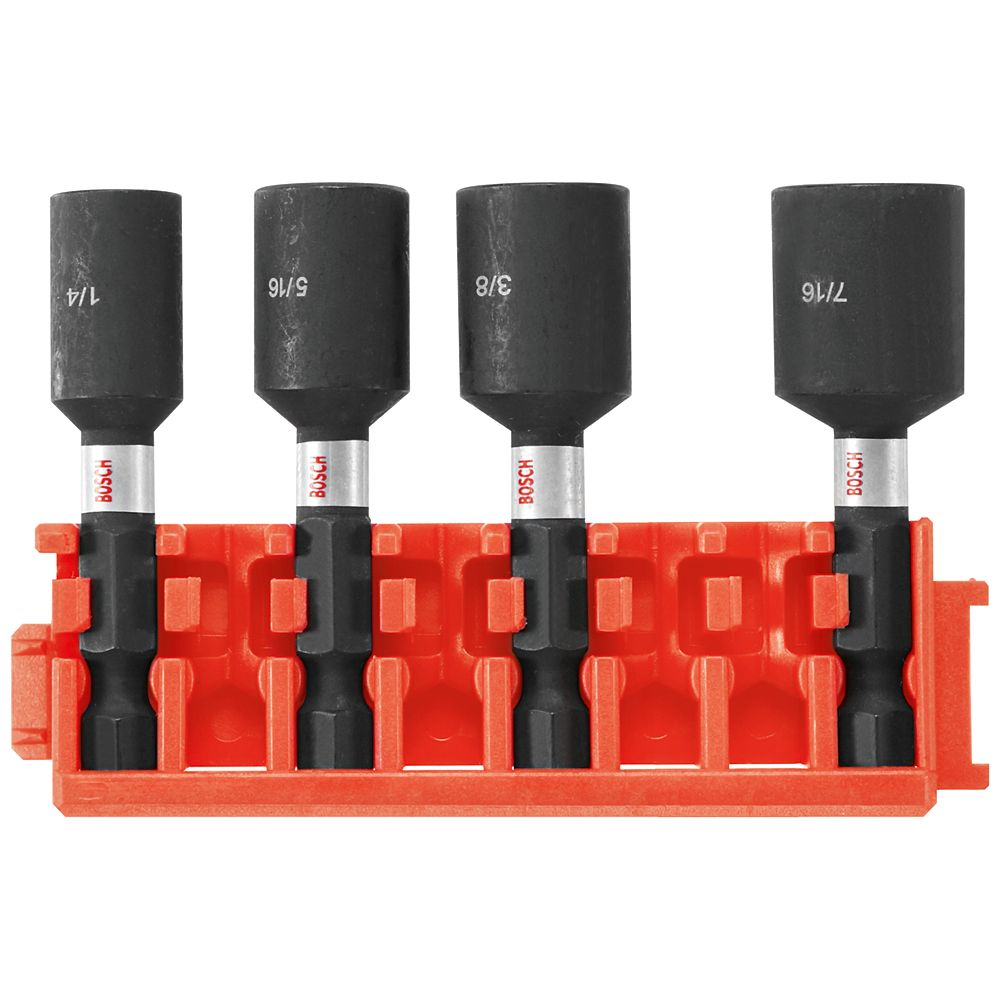 Bosch 4 pc. 1-7/8 inch Nutsetters with Clip for Custom Case System