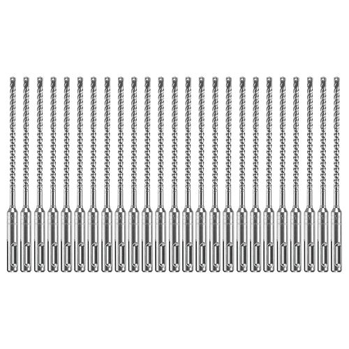 25 forets pour marteau perforateur au carbure Bulldog Xtreme SDS-plus de 3/16pox4po x 6-1/2 po