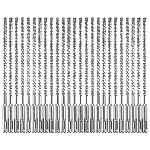 25 forets pour marteau perforateur au carbure Bulldog Xtreme SDS-plus de 1/4pox6po x 8-1/2 po
