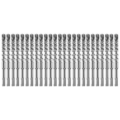 25 pc. 1/2 inch x 4 inch x 6 inch SDS-plus Bulldog Xtreme Carbide Rotary Hammer Drill Bits