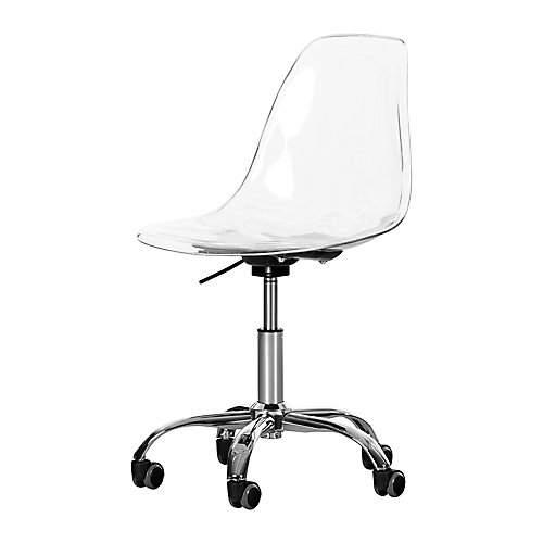 Annexe Clear Acrylic Office Chair with Wheels