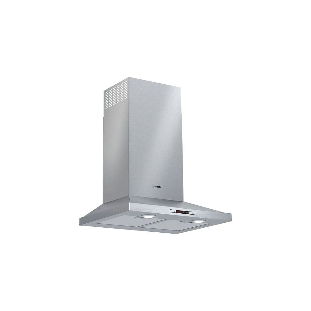 Bosch 300 Series 24-inch 300 CFM Convertible Wall Mount Range Hood with light in Stainless Steel