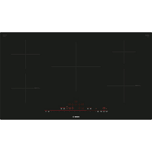 800 Series, 36 inch Induction Cooktop,  Black, Frameless, Home Connect