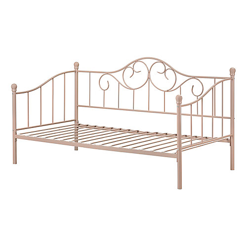 Lily Rose Metal Daybed , Pink Blush
