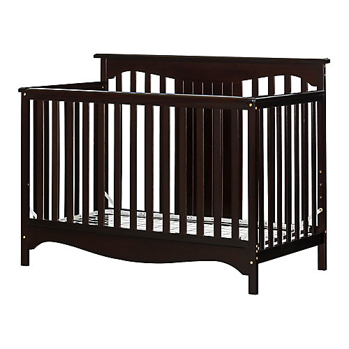 Savannah Baby Crib 4 Heights with Toddler Rail, Espresso